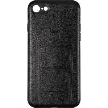 Чехол с текстурой под кожу Prime для Xiaomi Redmi Note 8 черный