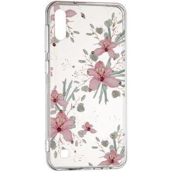 """Cиликоновая накладка с камушками """"Орхидея"""" от Younicou для Samsung A705 (A70)"""