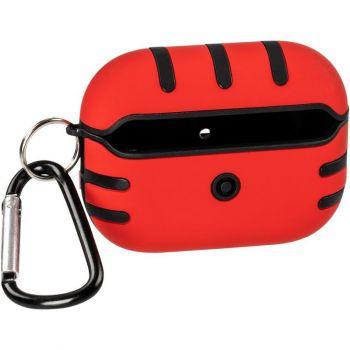 Красный силиконовый чехол KeepHone от Floveme для AirPods Pro
