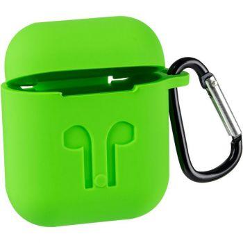 Зеленый силиконовый чехол от Floveme для AirPods