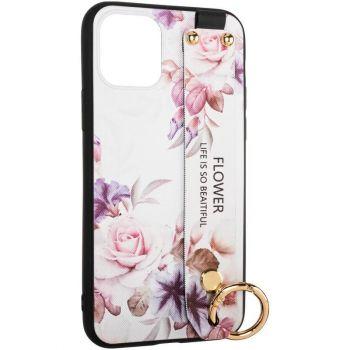 Панель с белым цветочным принтом Flower Rope от Aspor для Samsung A115 (A11)