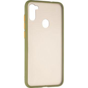 Защитный матовый чехол Yoho для Samsung A115 (A11) зеленый