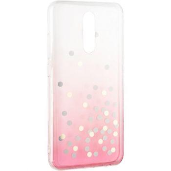 Чехол розовый градиент с блестками Crystal Shine от Aspor для Xiaomi Redmi Note 9 Pro