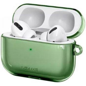 Зеленый силиконовый защитный чехол от Usams для AirPods Pro (US-BH570)