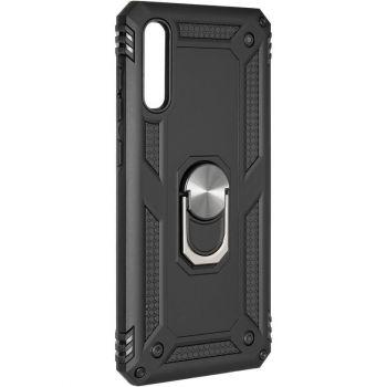 Противоударный черный чехол Defence с кольцом от Honor для Samsung A705 (A70)