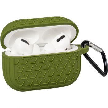 Зеленый силиконовый защитный чехол Tire для AirPods Pro
