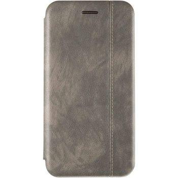 Серая кожаная книжка Cover Leather от Gelius для Xiaomi Redmi Note 8 Pro