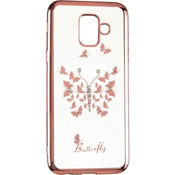 Чехол с кристаллами Breathe от Beckberg для Samsung M305 (M30) с бабочкой