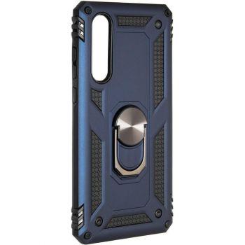 Противоударный синий чехол Defence с кольцом от Honor для Huawei P30