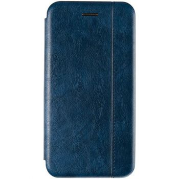 Синяя кожаная книжка Cover Leather от Gelius для Samsung A013 (A01 Core)