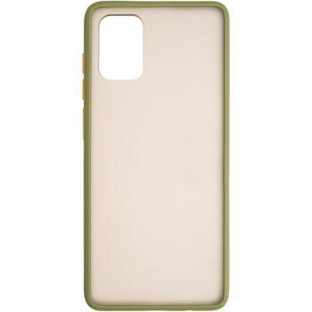 Защитный матовый чехол Yoho для Samsung A715 (A71) зеленый