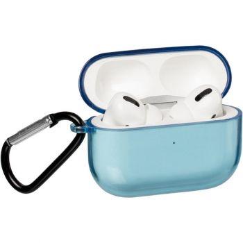 Синий прозрачный чехол для AirPods Pro Light