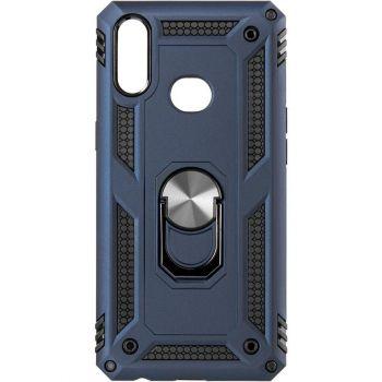 Противоударный синий чехол Defence с кольцом от Honor для Huawei P40 Lite E