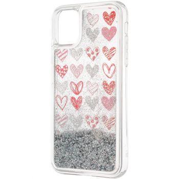 Чехол с жидкостью Hearts от Aspor для Samsung M215 (M21)