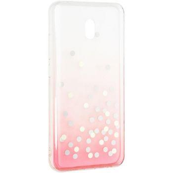 Чехол розовый градиент с блестками Crystal Shine от Aspor для Xiaomi Redmi 8a
