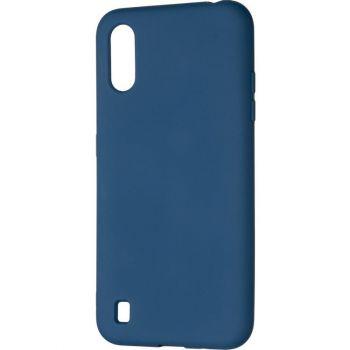 Оригинальный чехол полного обхвата Full Soft для Samsung A015 (A01) Blue