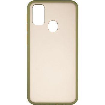 Защитный матовый чехол Yoho для Samsung M307 (M30s) зеленый