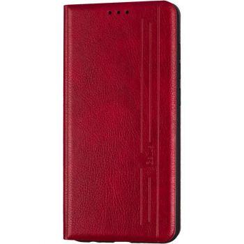 Кожаная книжка Cover Leather от Gelius для iPhone 12 Pro Max красный