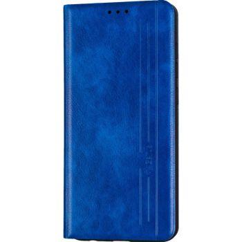 Кожаная книжка Cover Leather от Gelius для Huawei P Smart (2021) синий