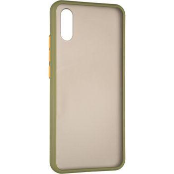 Защитный матовый чехол Yoho для Samsung A013 (A01 Core) зеленый