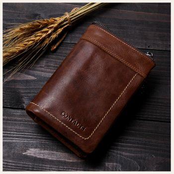 Винтажный кожаный бумажник EMOTION