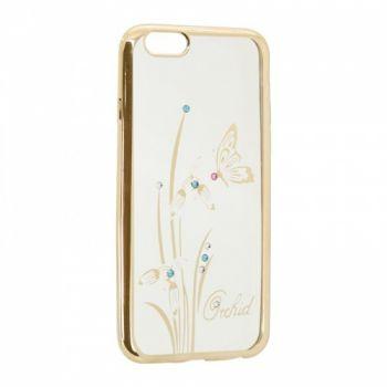 Прозрачный чехол с рисунком и камешками для Meizu M6t Orchid