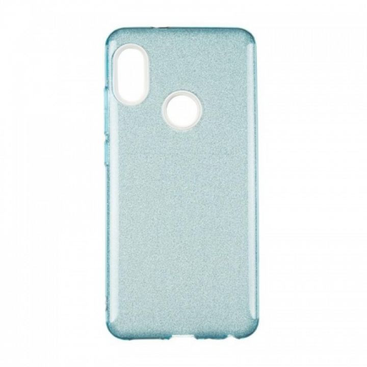 Чехол с блесками Glitter Silicon от Remax для Xiaomi Redmi 5a синий