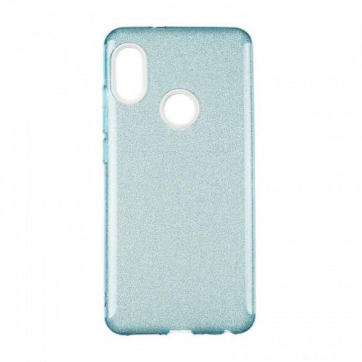 Чехол с блесками Glitter Silicon от Remax для Xiaomi Redmi 5 Plus синий
