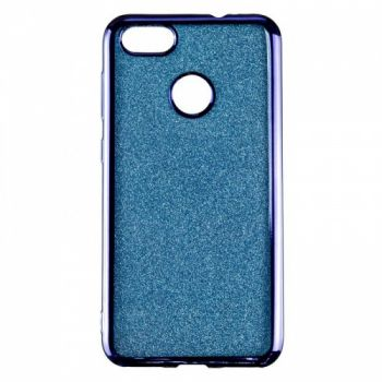 Чехол с блесками Glitter Silicon от Remax для Huawei Nova Lite синий