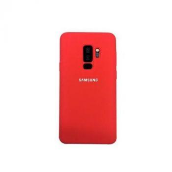 Красивый чехол накладка Silicone Red original для Samsung Galaxy S9 Plus