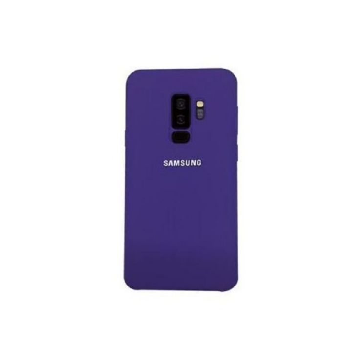 Оригинал чехол фиолетового цвета Silicone Case для Samsung Galaxy S9