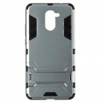 Пластиковый ударопрочный чехол накладка для Huawei Y7 Prime серый
