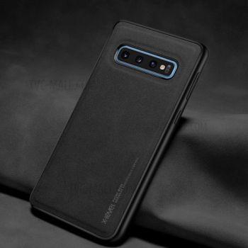 Ультратонкий кожаный чехол премиум класса от X-Level для Samsung Galaxy S10 Plus