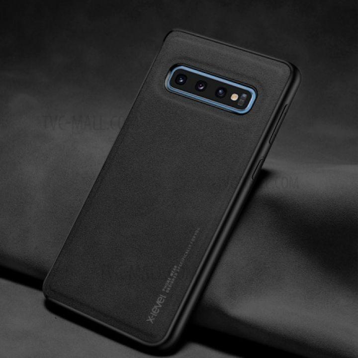 Ультратонкий кожаный чехол премиум класса от X-Level для Samsung Galaxy S10