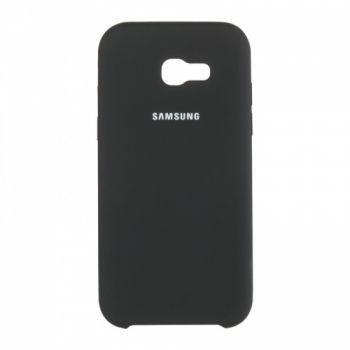 Оригинальный чехол накладка Soft Case для Samsung J120 (J1-2016) черный