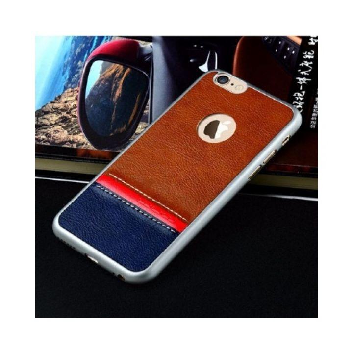 Velvet кожаный чехол накладка для iPhone 6/6s silver