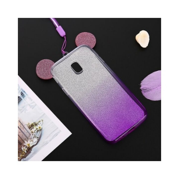 Фиолетовый чехол бампер Ears для Samsung Galaxy J330 2017 violet