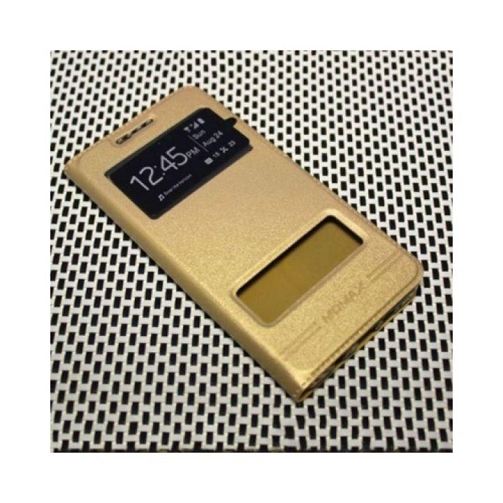 Красивый оригинальный чехол книжка Perfect для Samsung Galaxy A7 2016 gold
