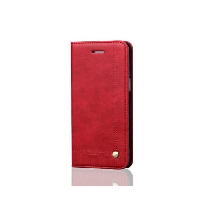 Красный кожаный чехол книжка Elegant для Samsung Galaxy S8