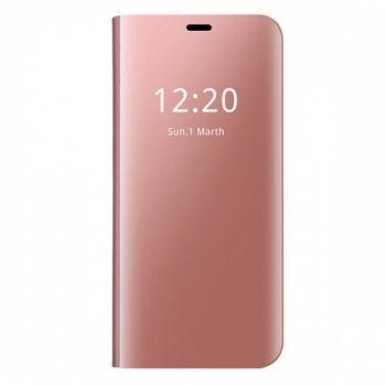 Розовый чехол флип под оригинал для Samsung Galaxy S7