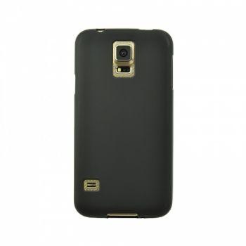 Оригинальная силиконовая накладка для Samsung J110 (J1 Ace) черный