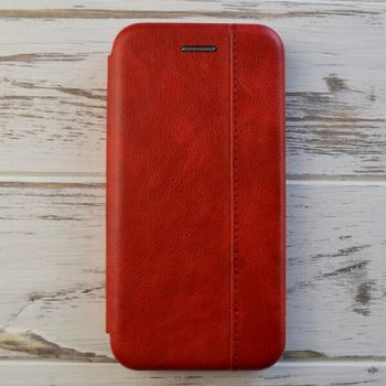 Красивый чехол книжка из кожи Lux Red для iPhone 8 Plus