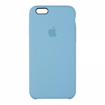 Оригинальный чехол накладка Soft Case для iPhone 5 синий