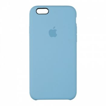 Оригинальный чехол накладка Soft Case для iPhone 6 Plus синий