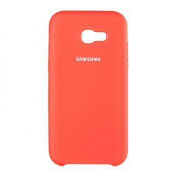 Оригинальный чехол накладка Soft Case для Samsung J510 (J5-2016) красный