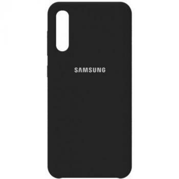 Оригинальный чехол накладка Soft Case для Samsung A50 черный