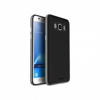 Накладка Carbon от iPaky с пластиковой обводкой для Samsung J710 (J7-2016) серый