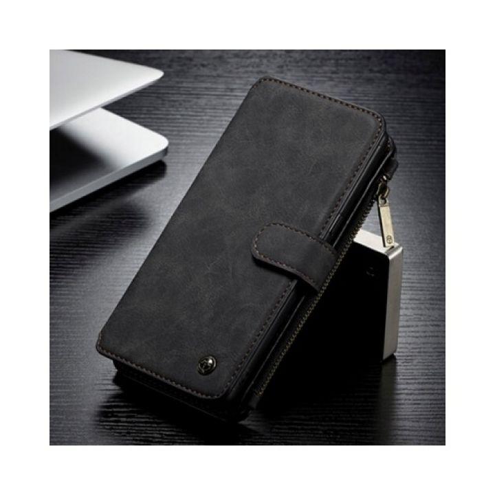 Чехол бумажник черного цвета Luxury Effect для Samsung Galaxy Note 8