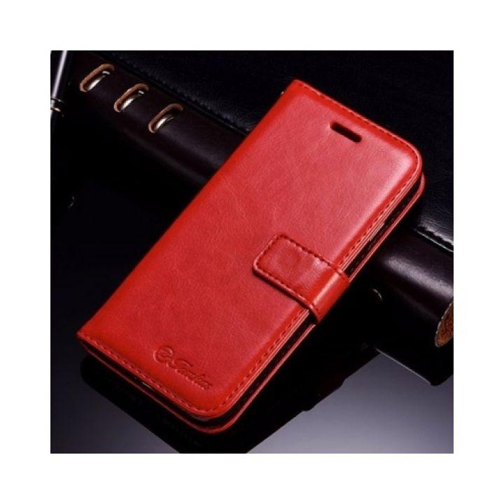 Яркий кожаный чехол книжка для iPhone 7 Plus red от Tomkas