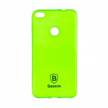 Яркий силиконовый чехол Colorit от Baseus для Huawei Y7 зеленый